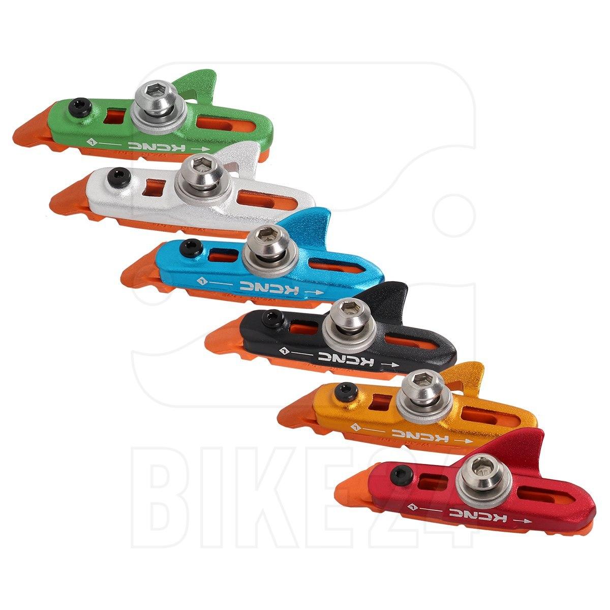 KCNC Bremsschuhe mit roten Standardbelägen
