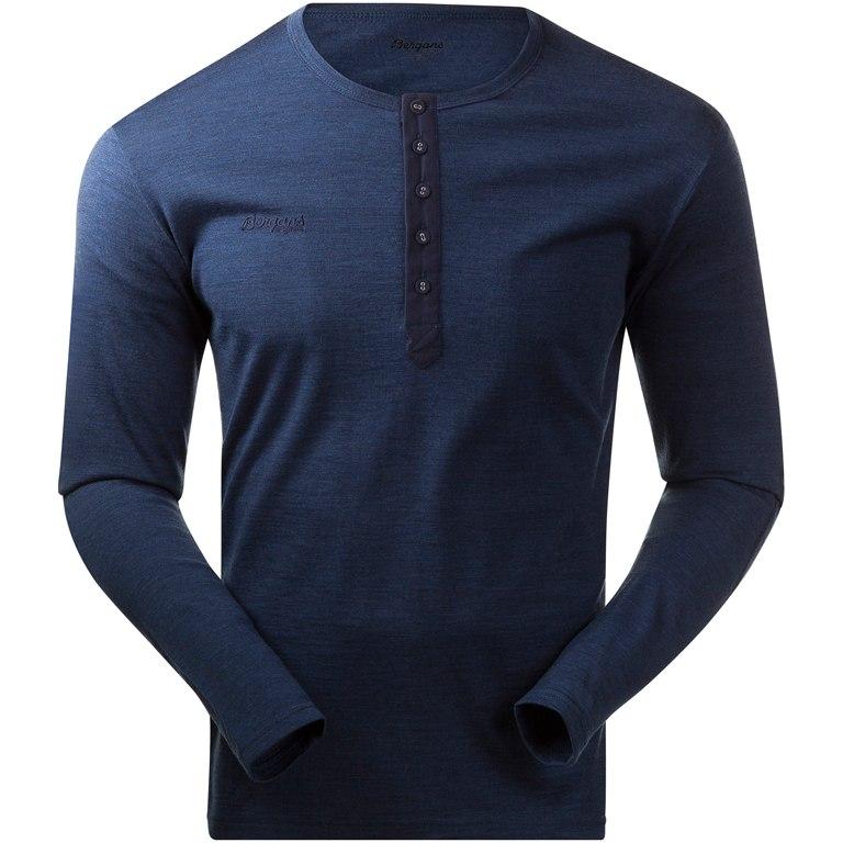 Bergans Henley Wool Shirt - navy melange