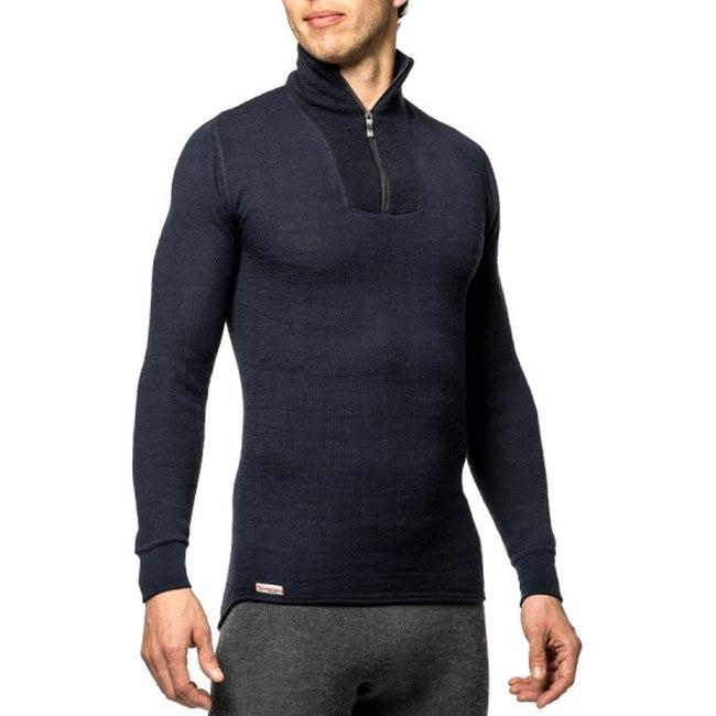 Bild von Woolpower Zip Turtleneck 200 Unisex Langarm-Unterhemd - schwarz