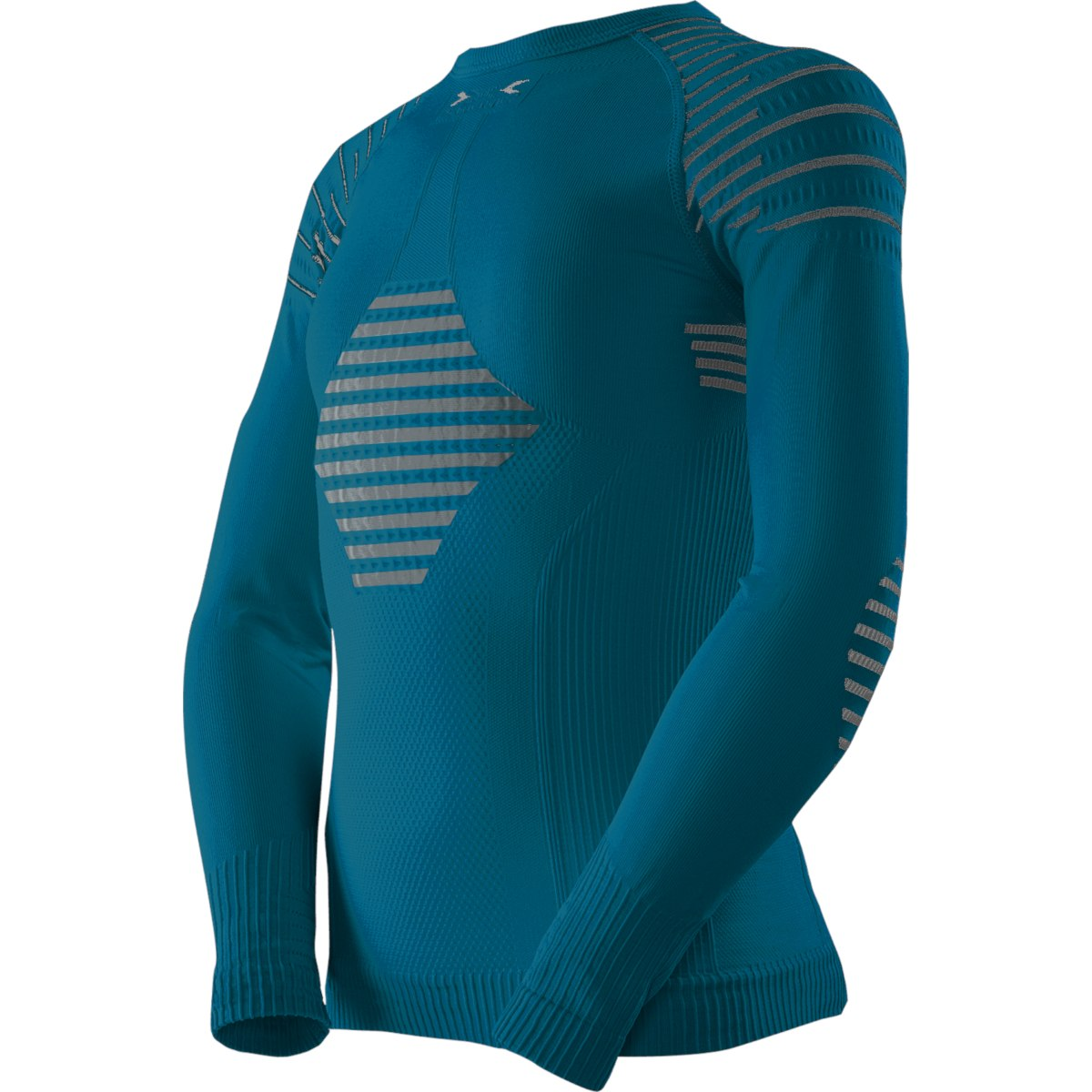 X-Bionic Invent 4.0 Shirt Round Neck Camiseta de manga larga para niños - teal blue/anthracite