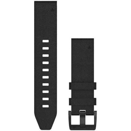 Garmin QuickFit 22 Uhrenarmand für  fenix 5/6 / Forerunner 935/945 / Instinct - Black Leather - 010-12740-01