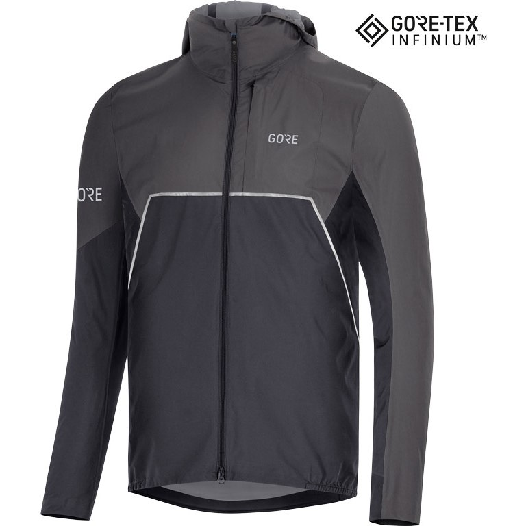 Foto de GORE Wear R7 Partial GORE-TEX INFINIUM™ Chaqueta con capucha - black/terra grey 990R