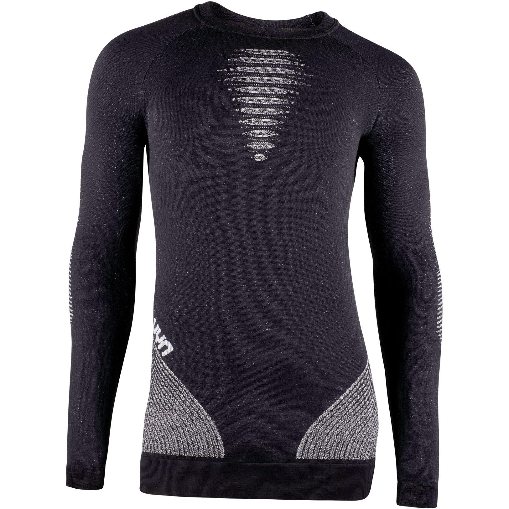 UYN Cashmere Shiny 2.0 Man Underwear Shirt Long Sleeves Round Neck - Celebrity Silver
