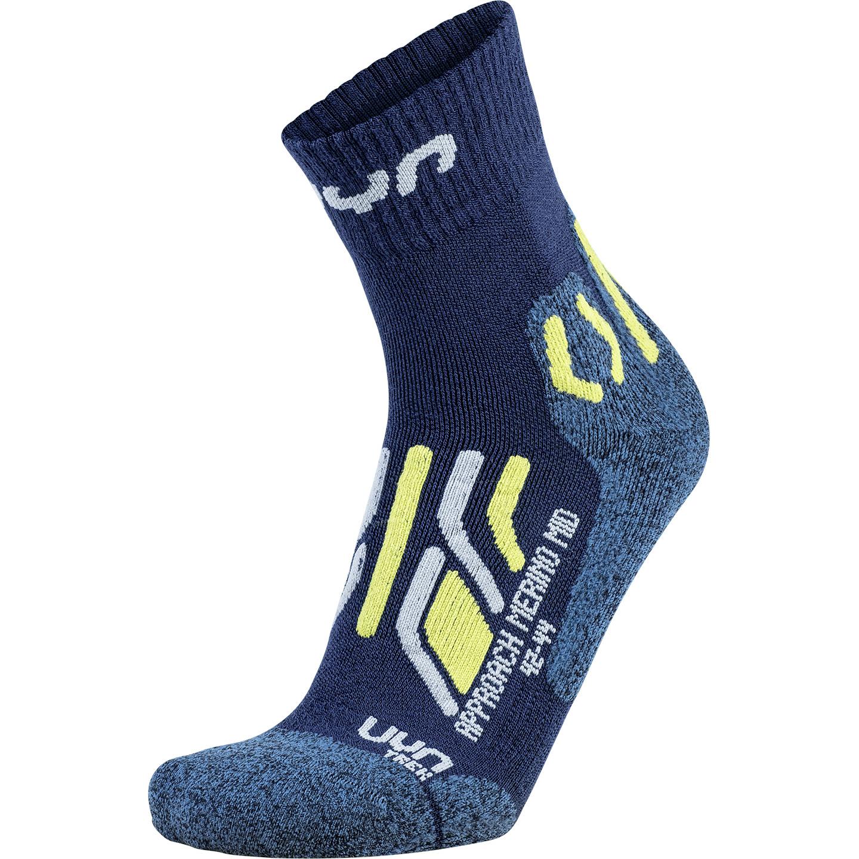 UYN Trekking Approach Merino Mid Cut Socken - Blue/Anthracite