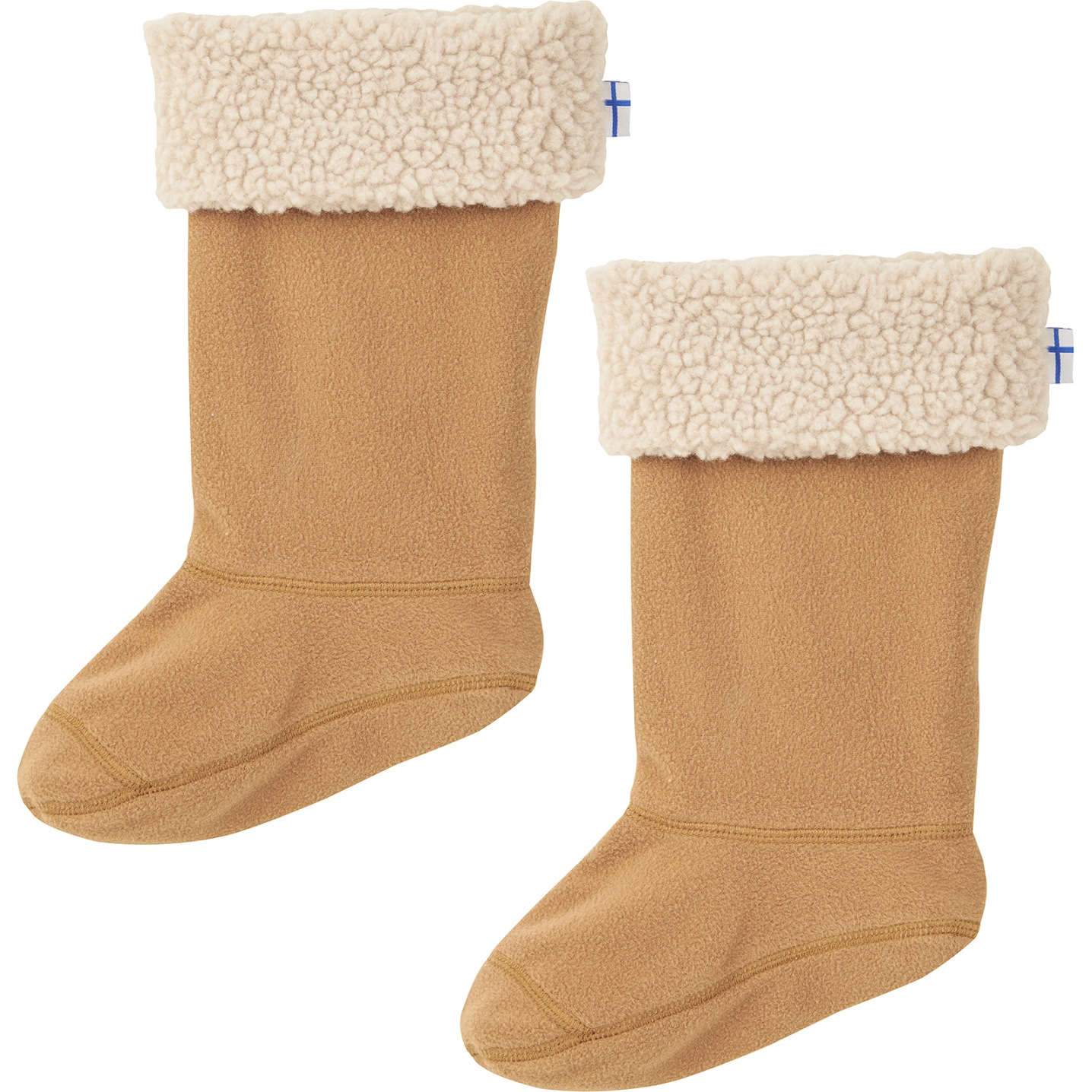 Finkid SUKKA Kids Boot Socks for KUMI Rubber Boots - cinnamon/pebble
