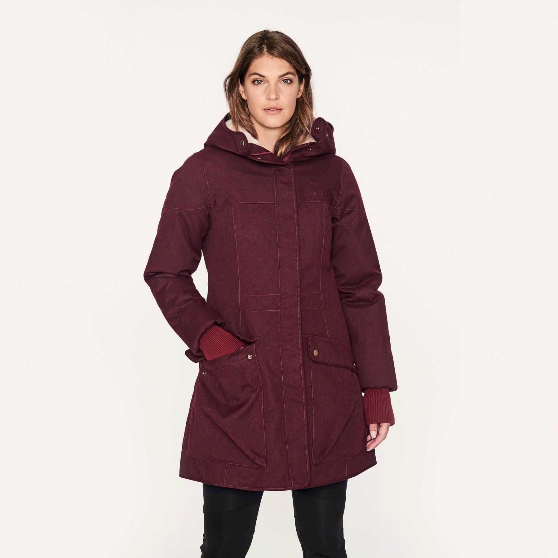 Image of Finside OONA SOFT Women Winter Parka - cabernet