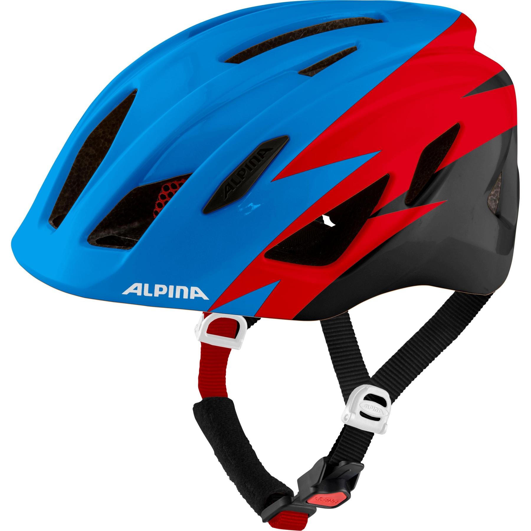 Alpina Pico Kids Helmet - blue-red-black gloss