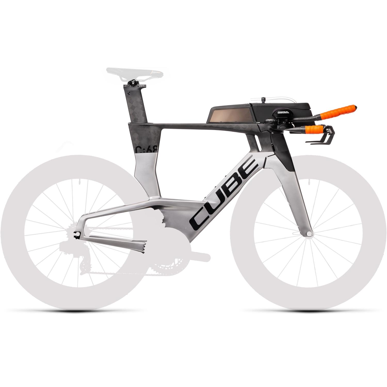 CUBE AERIUM C:68 High - Carbon Triathlon Frame Set - 2022 - carbon/polarsilver
