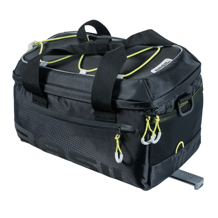 Basil Miles Trunk Bag MIK - black/lime