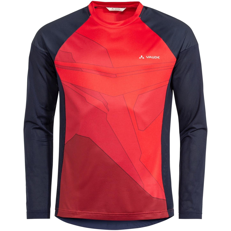 Vaude Moab Langarm T-Shirt VI - mars red