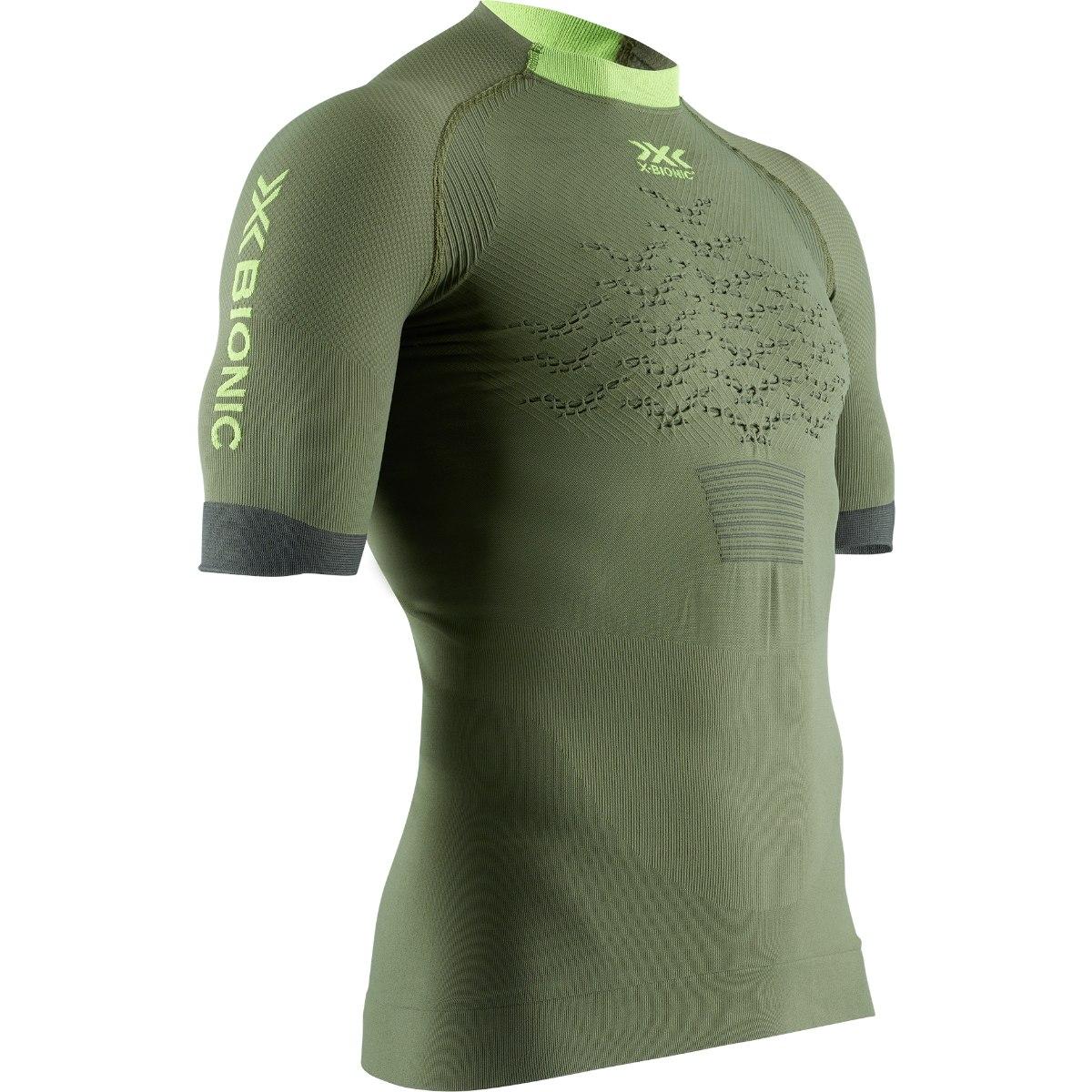 X-Bionic The Trick 4.0 Run Kurzarm-Laufshirt für Herren - olive green/phyton yellow