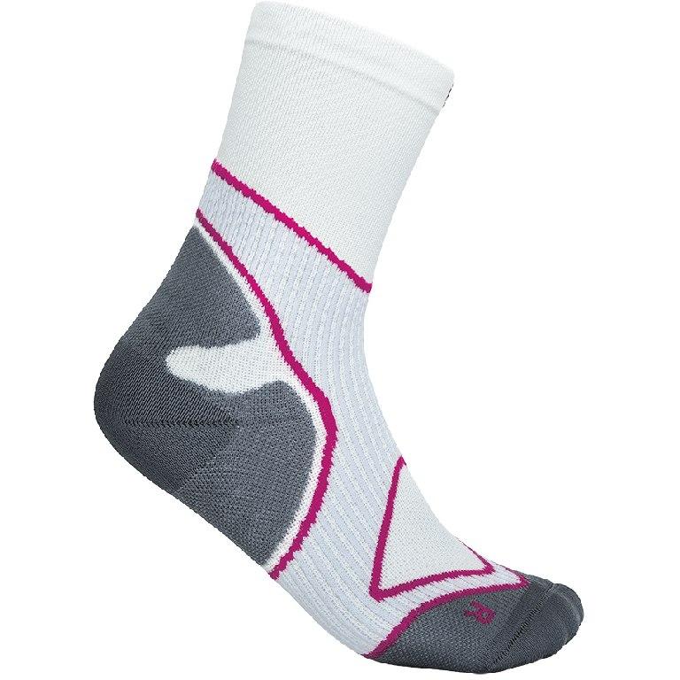 Bauerfeind Run Performance Mid Cut Socks Women - white