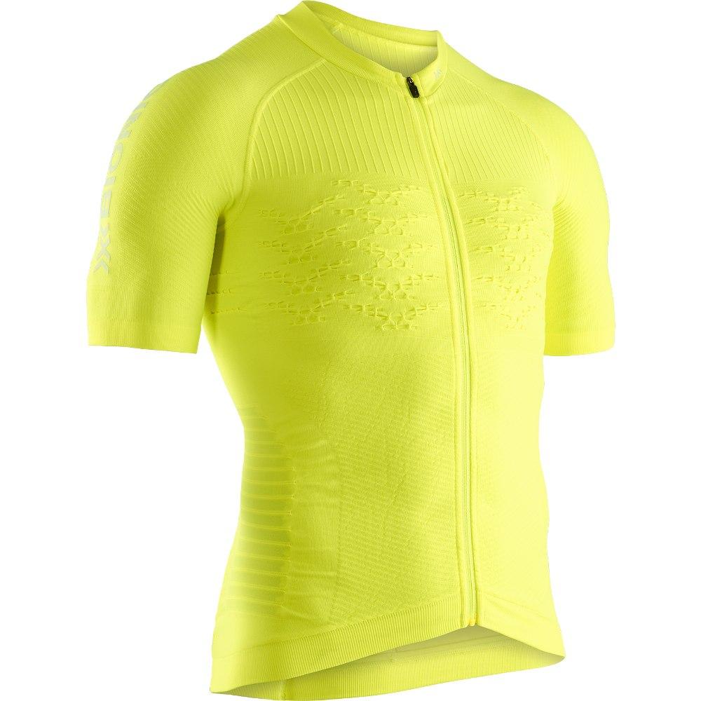 X-Bionic Effektor 4.0 Bike Full Zip Kurzarmtrikot für Herren - phyton yellow/arctic white