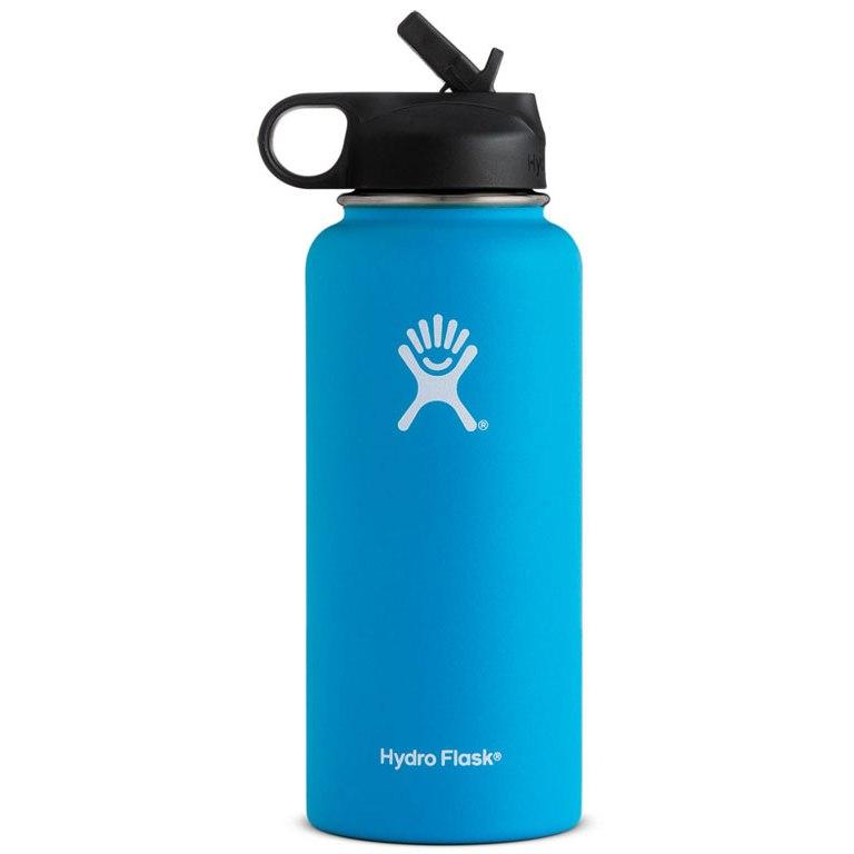 Bild von Hydro Flask 32 oz Wide Mouth Thermoflasche mit Strohhalm 946ml - Pacific