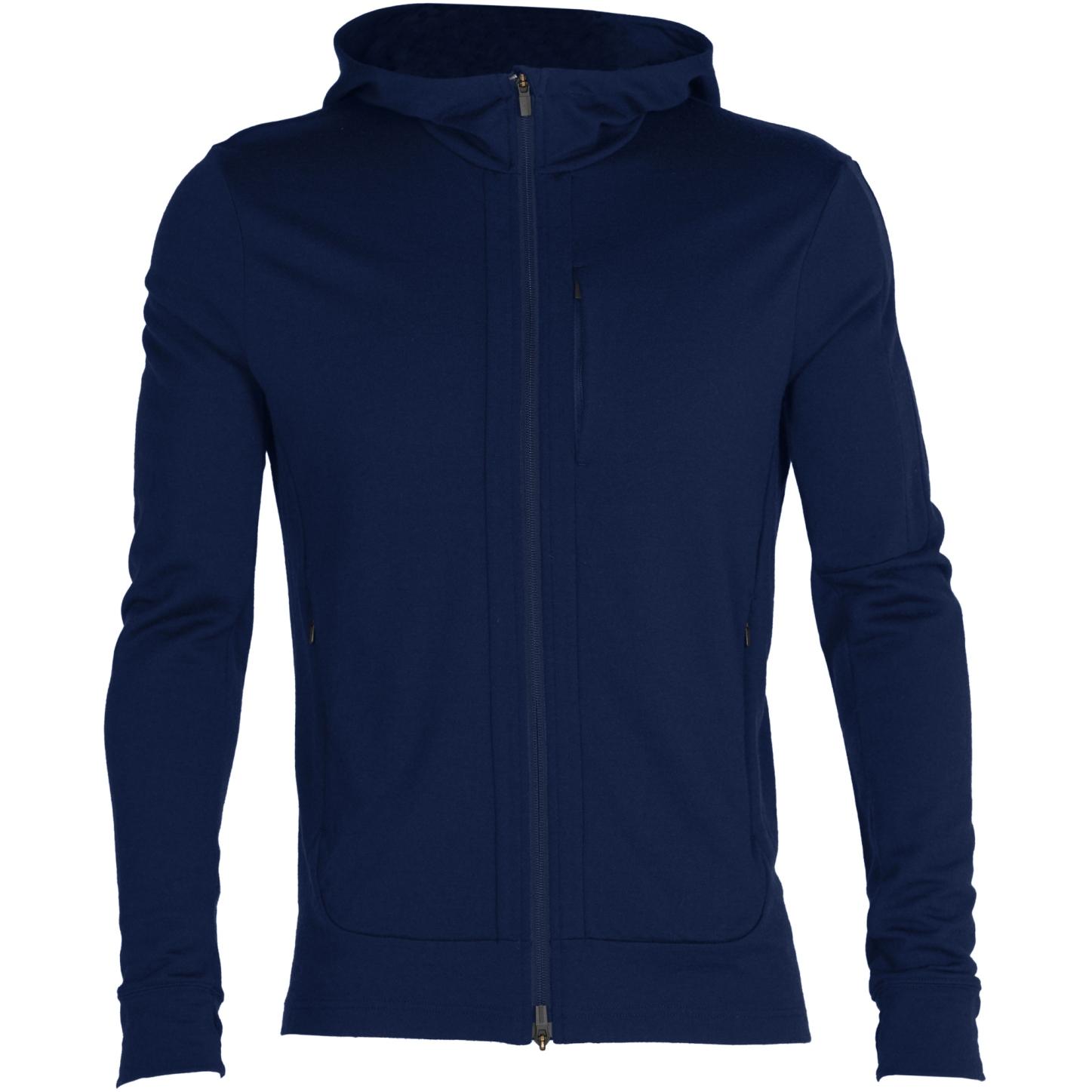Produktbild von Icebreaker Quantum III Long Sleeve Zip Hood Herren Midlayer Jacke - Royal Navy
