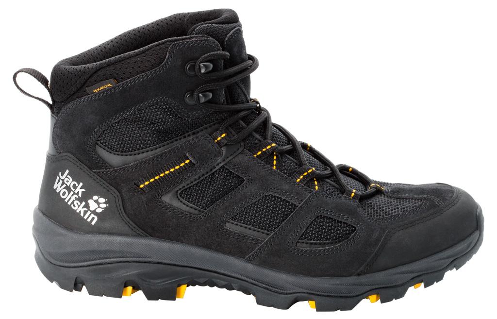 Jack Wolfskin Vojo 3 Texapore Mid M Schuhe - black/burly yellow XT