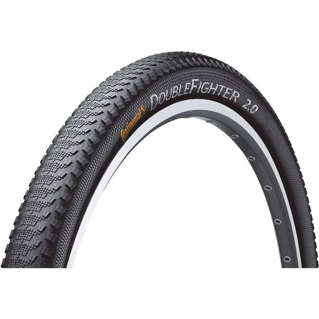 Image of Continental Double Fighter III Sport MTB Wire Bead Tire 27.5x2.0 Inches - black