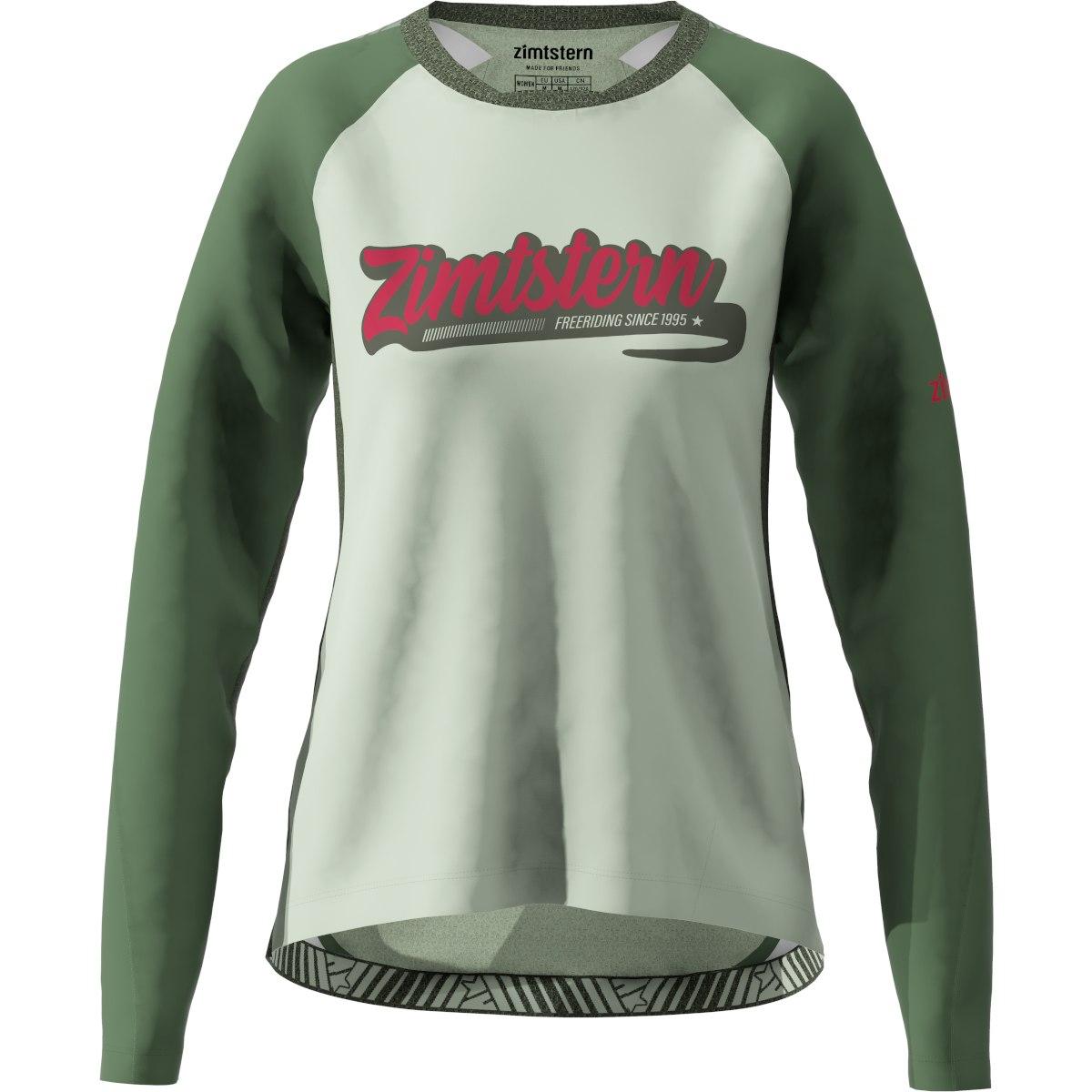 Zimtstern ProTechZonez Windbreaker MTB-Langarmshirt für Damen - bronze green/pirate black