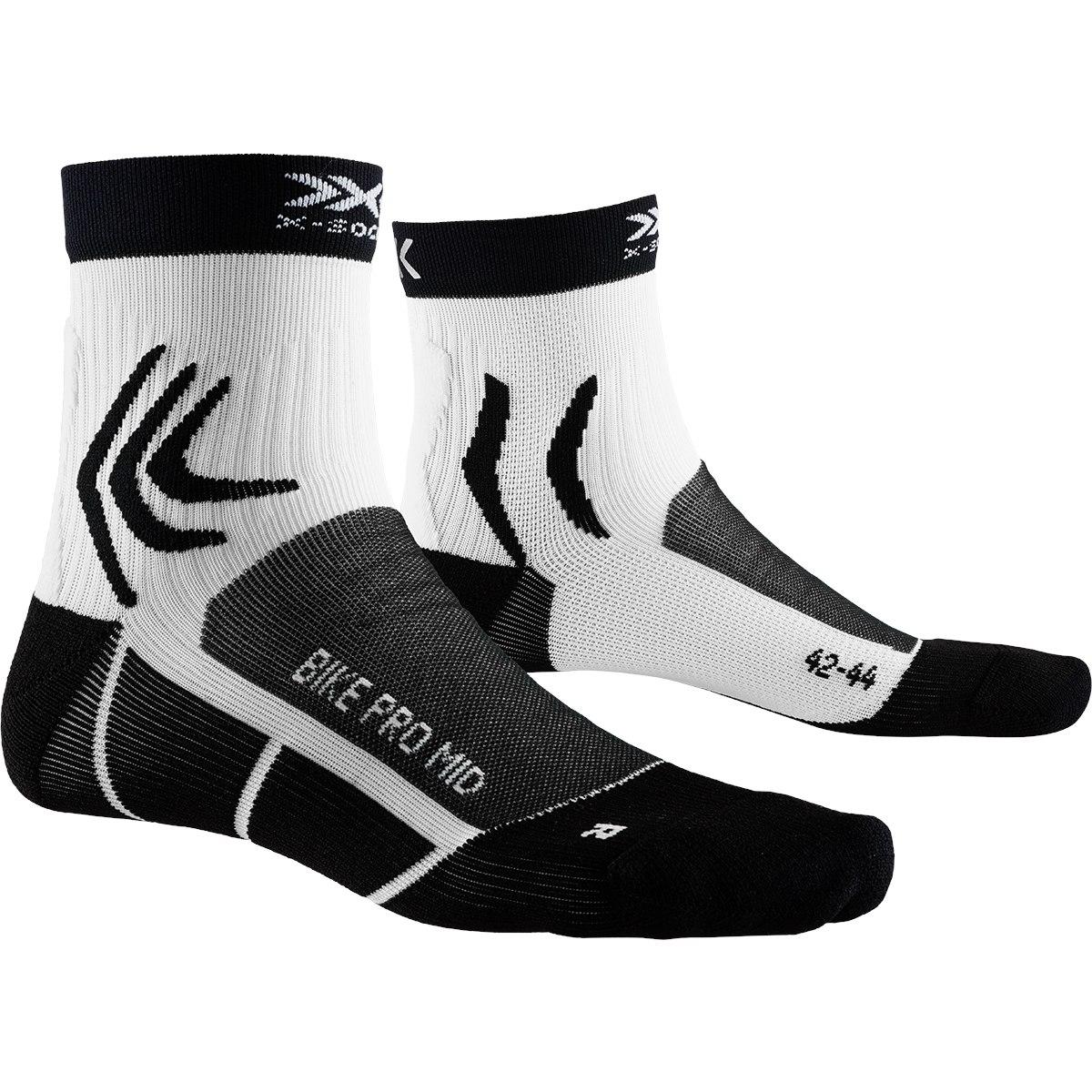 X-Socks Bike Pro Mid Socken - opal black/arctic white