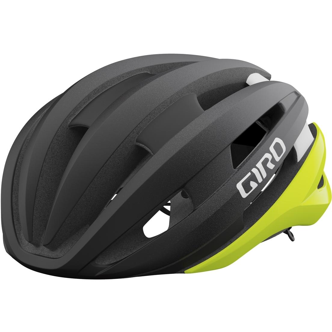Produktbild von Giro Synthe MIPS II Helm - matte black fade / highlight yellow