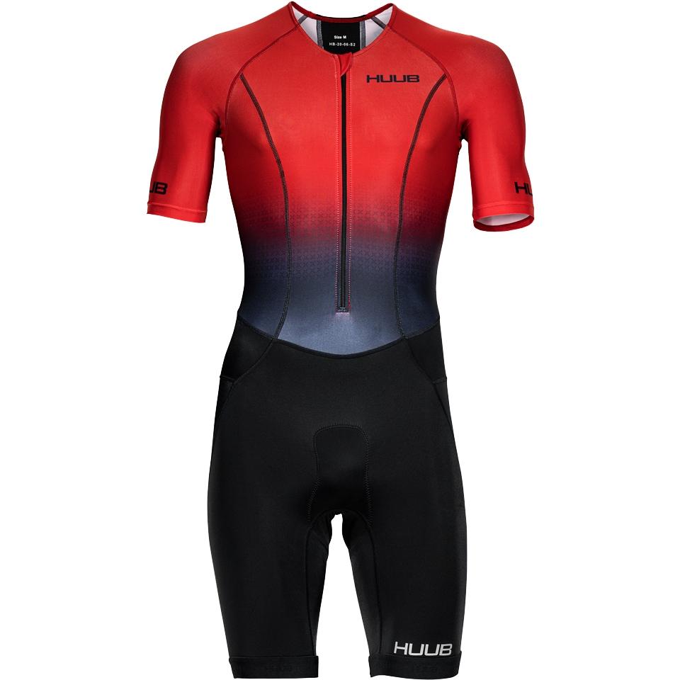 Produktbild von HUUB Design Commit Long Course Tri Suit - rot/schwarz