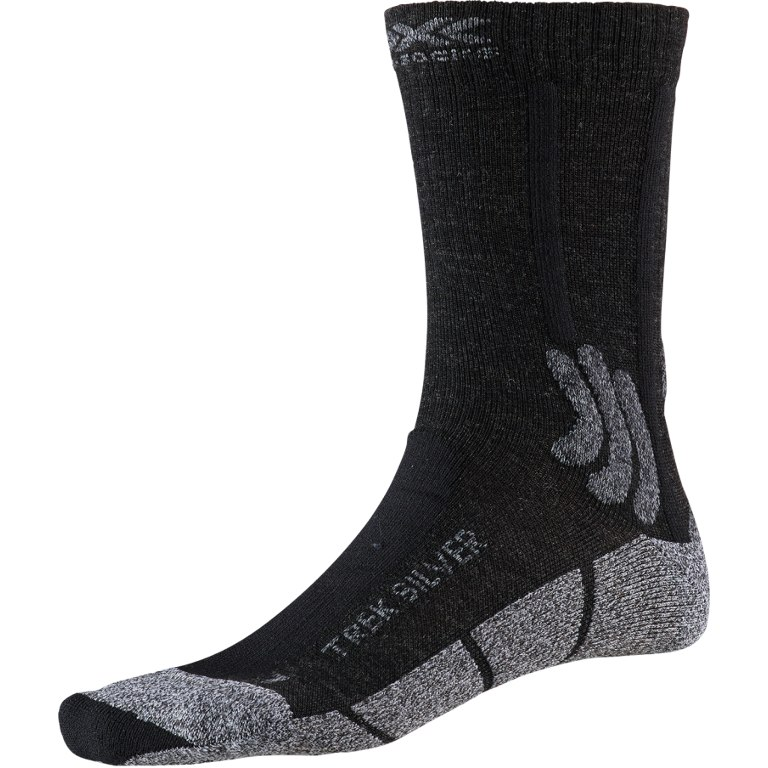 X-Socks Trek Silver Socks - opal black/dolomite grey melange