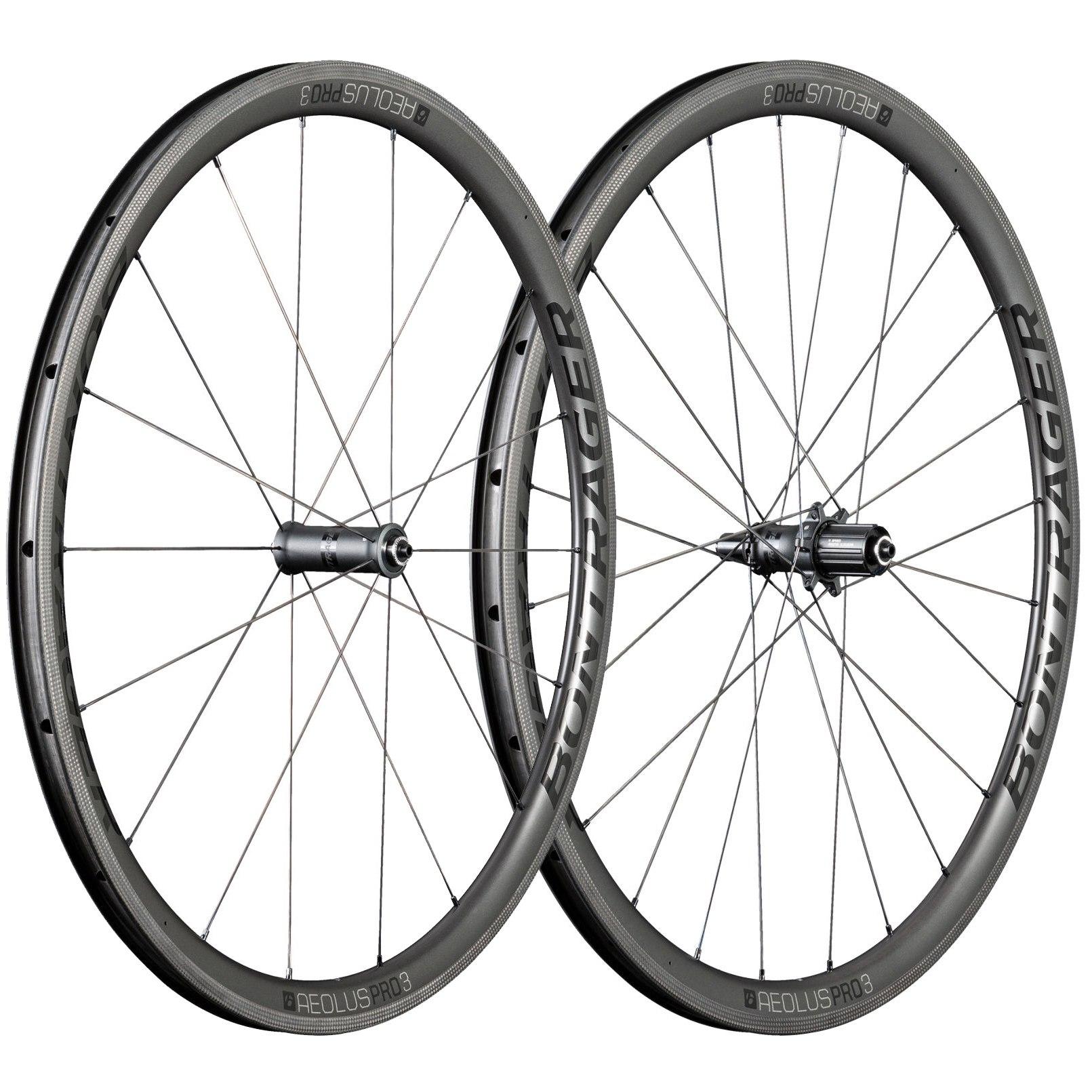 Bontrager Aeolus Pro 3 TLR Road Wheelset - Clincher - FW: 100mm/QR   RW: 130mm/QR