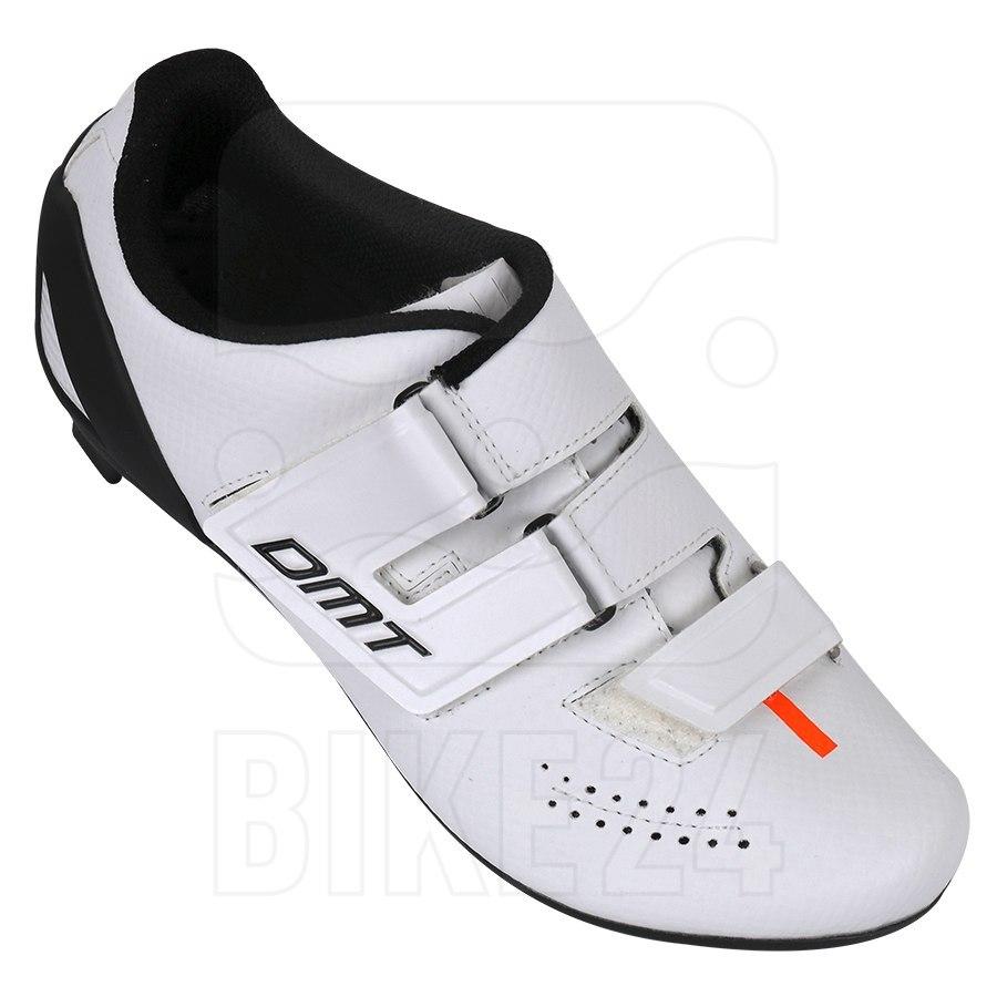 Image of DMT D6 Kid Road Shoe - white/black/orange