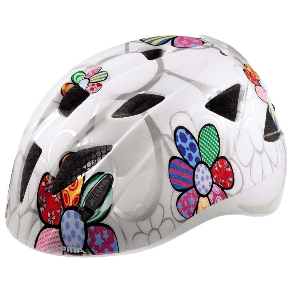 Alpina Ximo Flash Kids Helmet - white flower