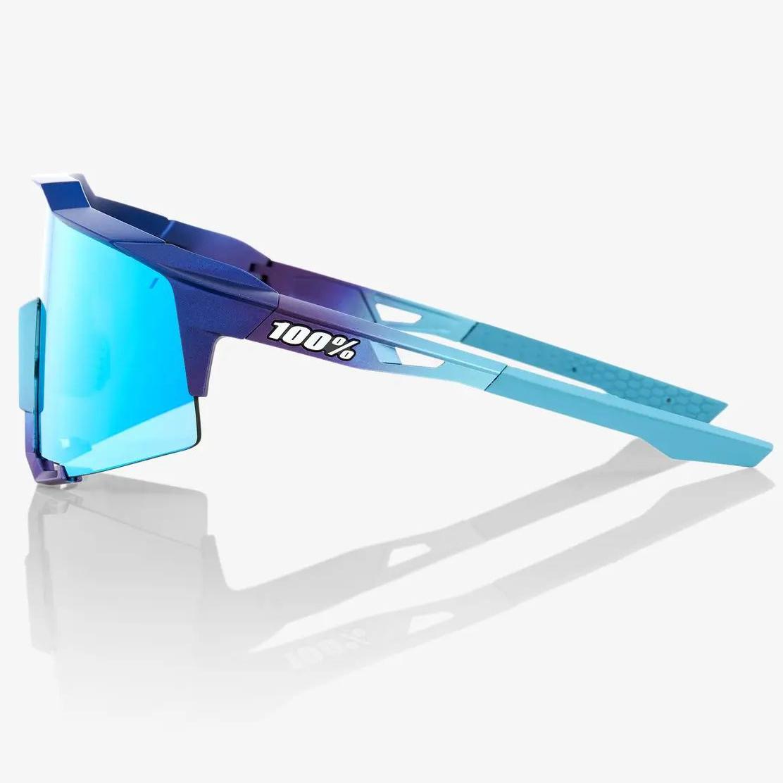 Imagen de 100% Speedcraft - Tall - Mirror Lense Gafas - Matte Metallic Into the Fade/Blue Topaz Multilayer + Clear