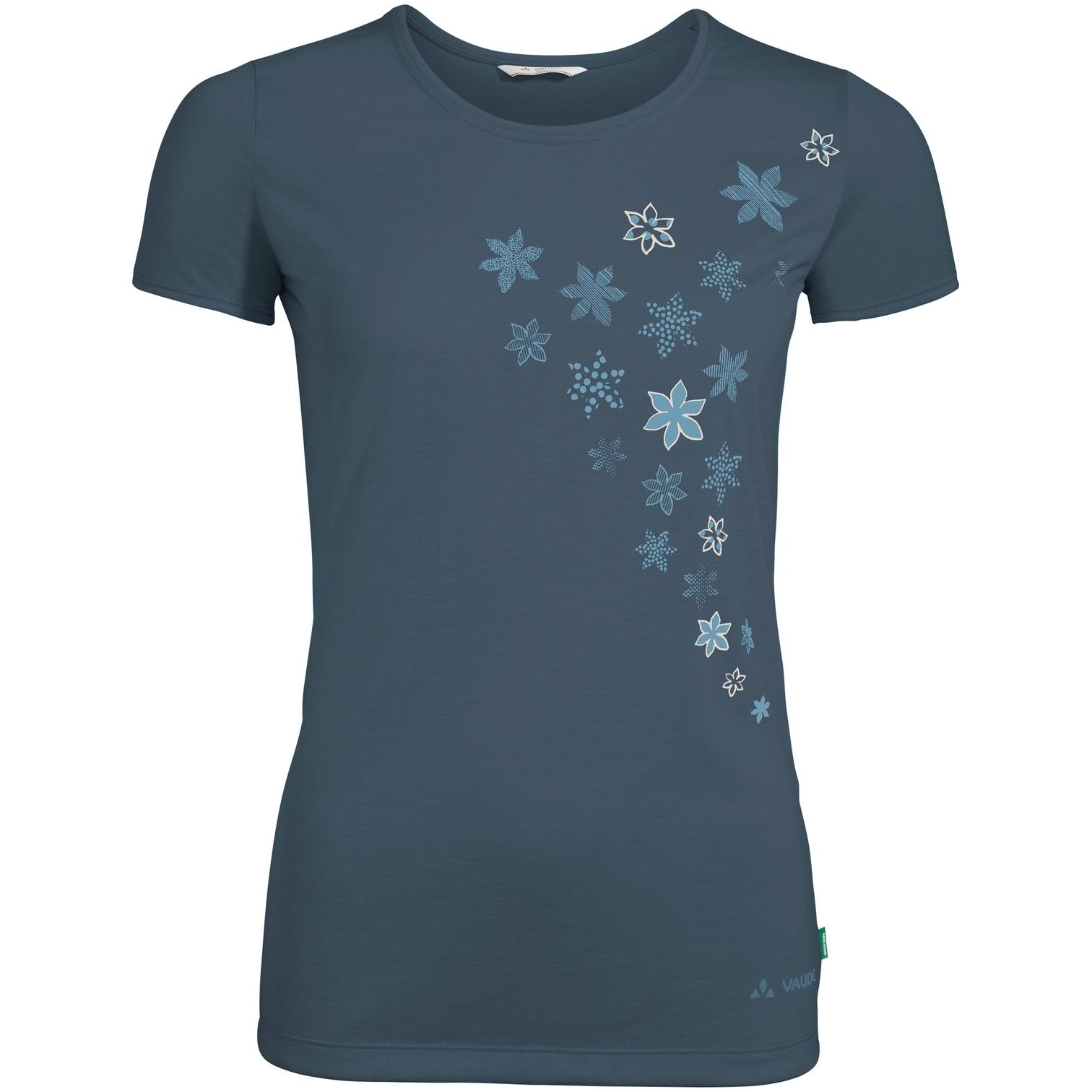 Vaude Skomer Print Damen T-Shirt - steelblue