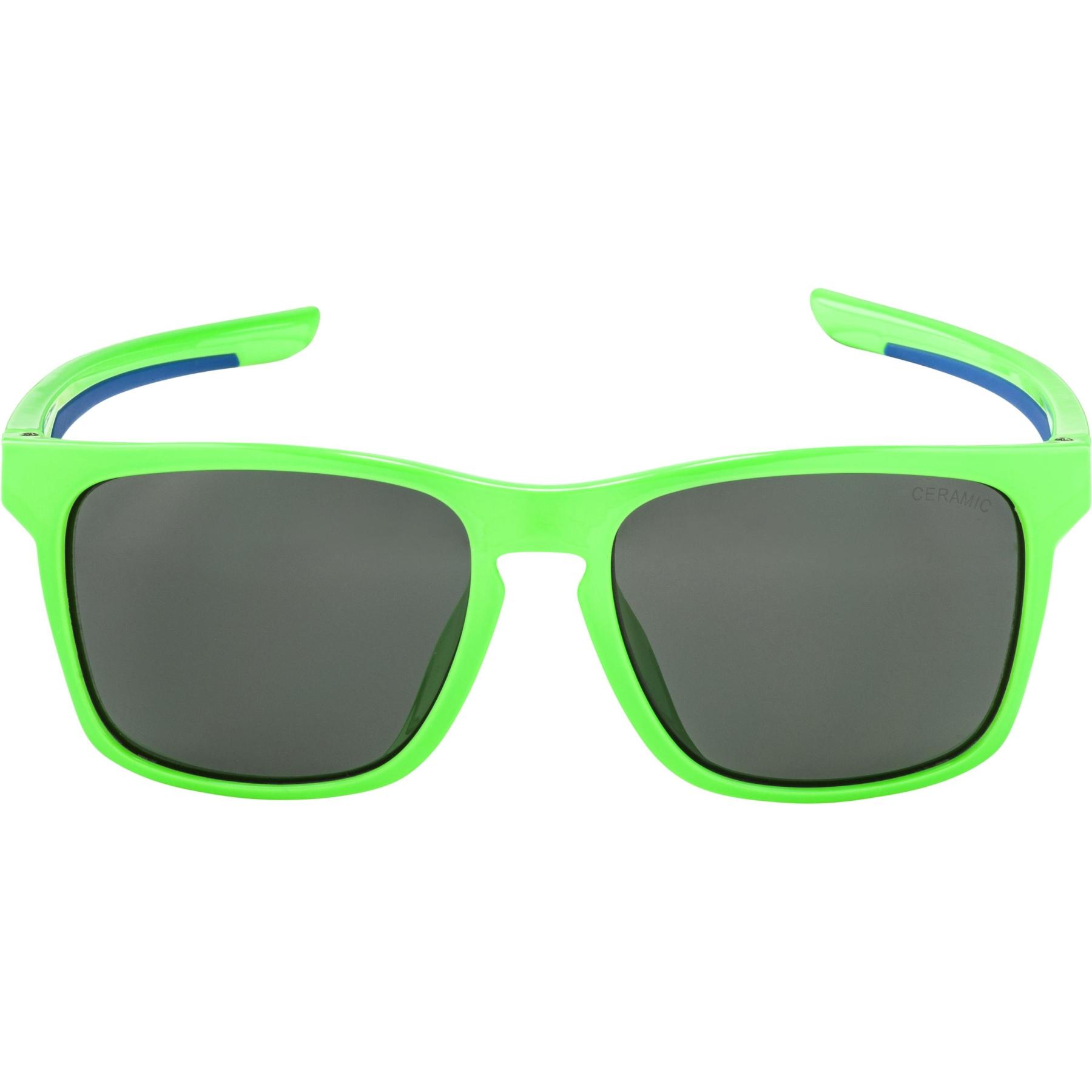 Image of Alpina Flexxy Cool Kids I Glasses - neon green-blue / black