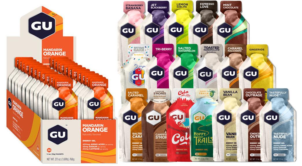 GU Energy Gel with Carbohydrates - 24x32g