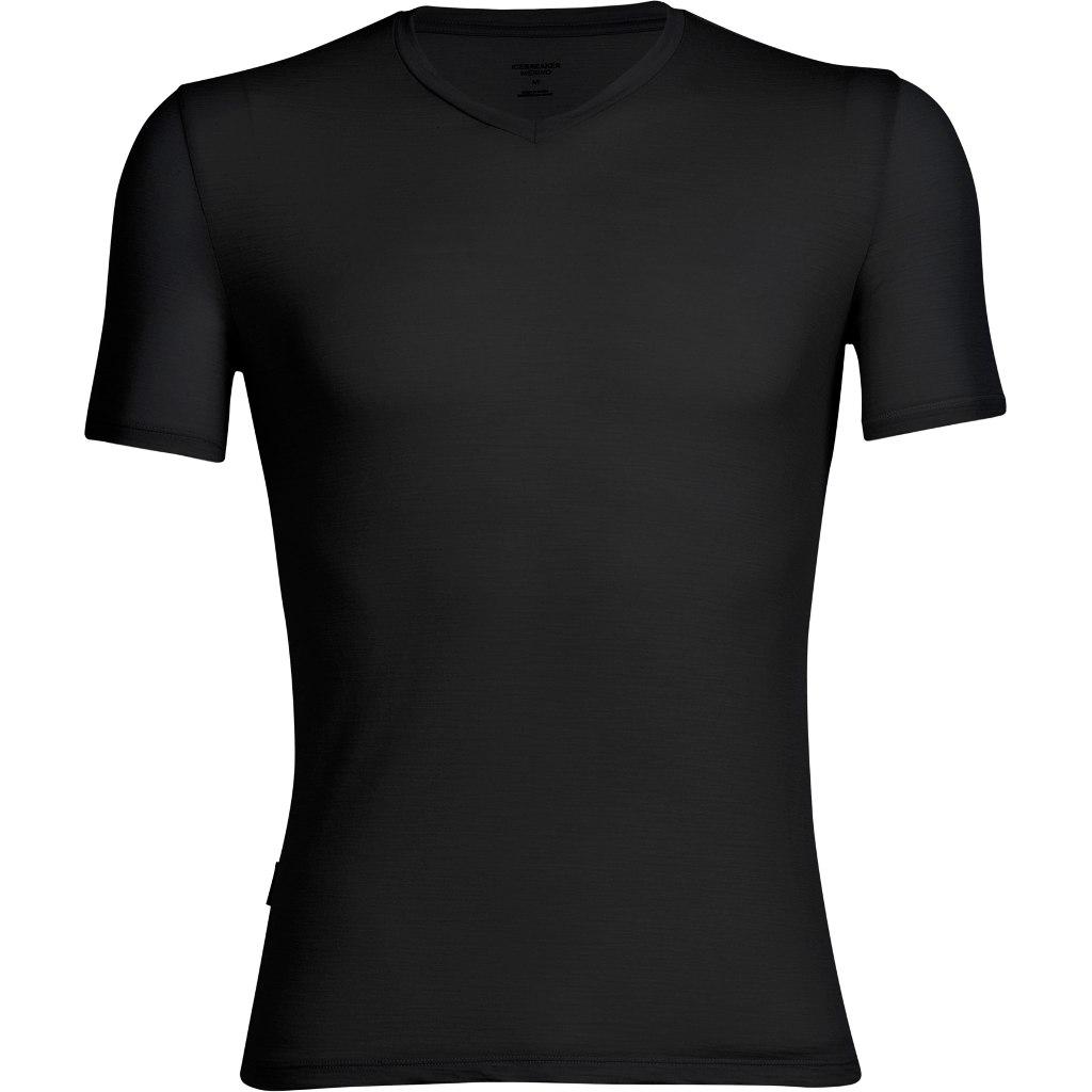 Icebreaker Anatomica V Herren T-Shirt - Black/Monsoon
