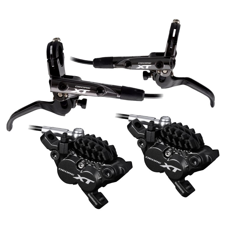 Produktbild von Shimano Deore XT BR-M8020 + BL-M8000 Scheibenbremse - I-Spec II - H03C Metall - Paar