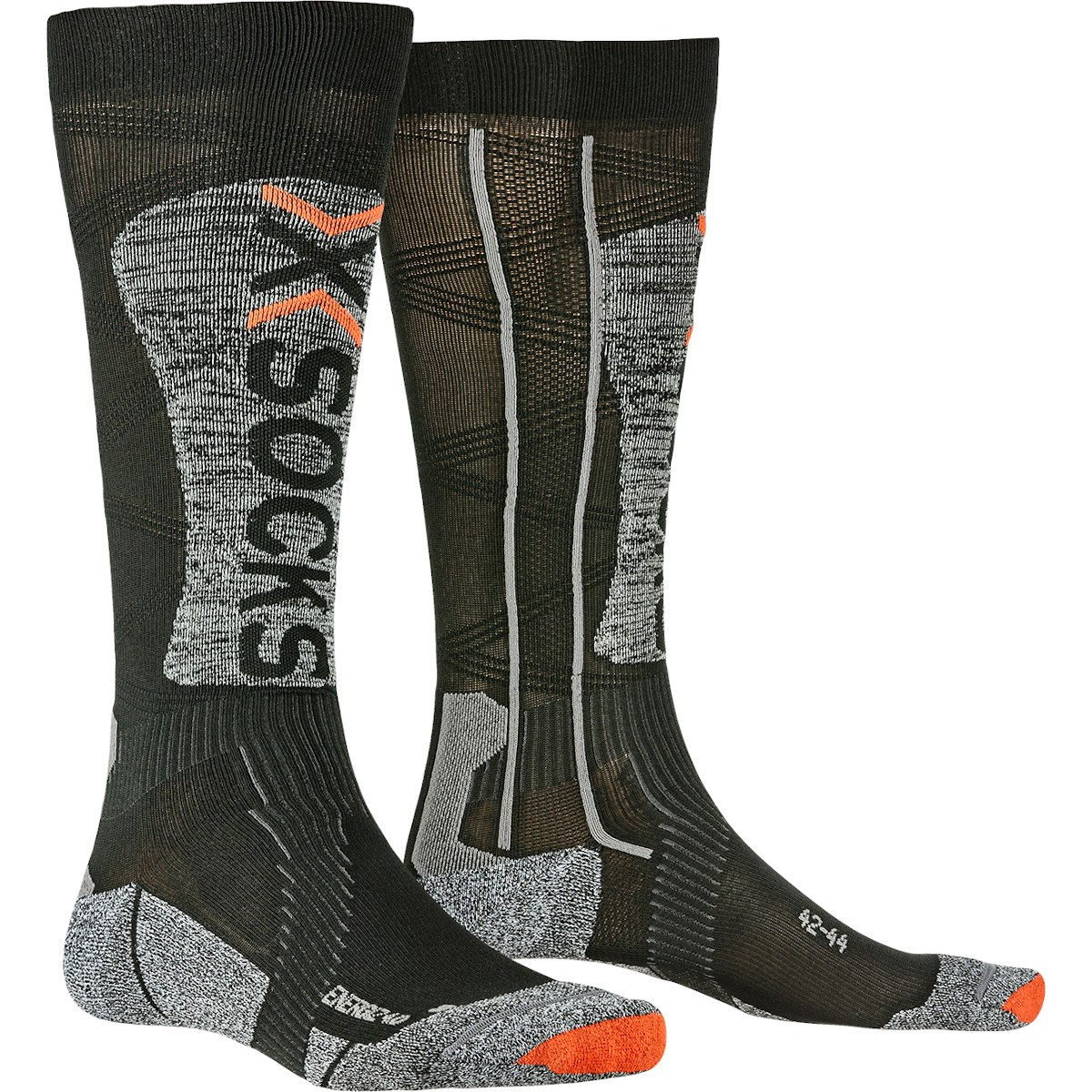 X-Socks Ski Energizer Light 4.0 Socken - black/stone grey melange