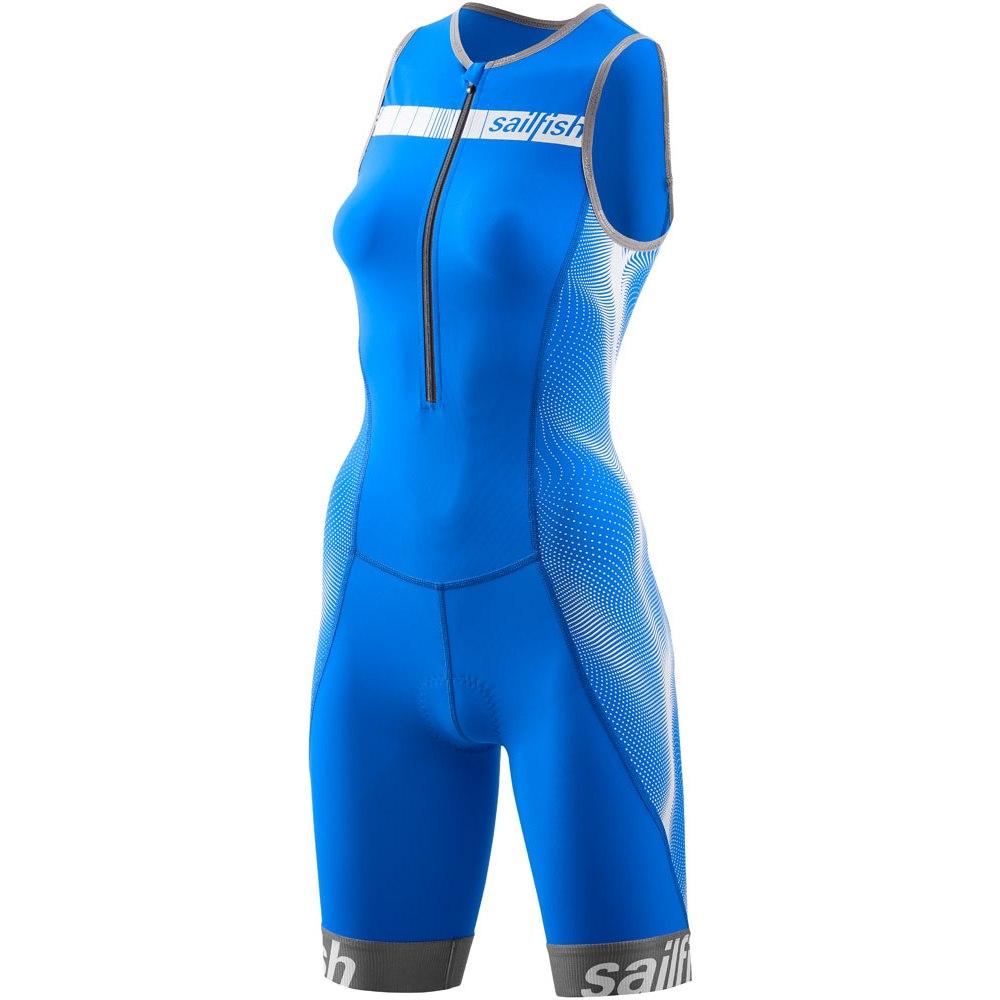 sailfish Damen Trisuit Comp Triathlon-Einteiler 2021 - blau/weiß