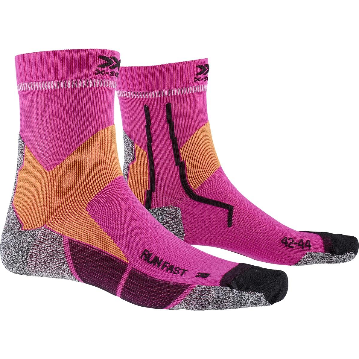 Bild von X-Socks Run Fast Laufsocken - flamingo pink/sunset orange