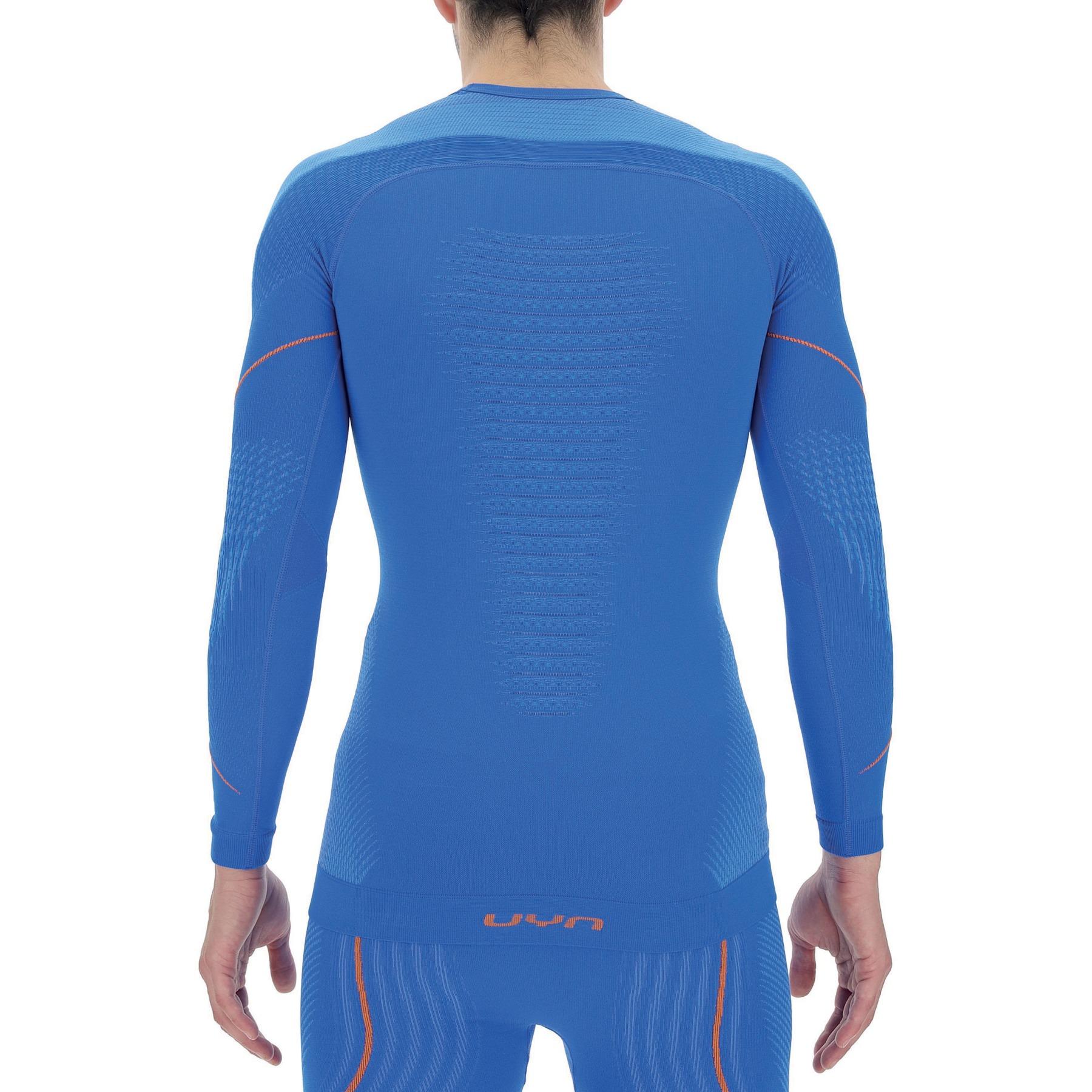 Image of UYN Evolutyon Longsleeve Shirt - Lapis Blue/Blue/Orange Shiny