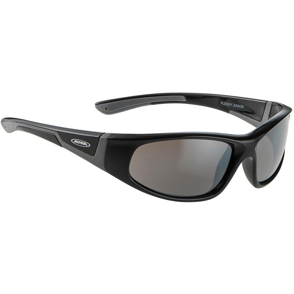 Alpina Flexxy Junior Glasses - Black Grey/Mirror Black