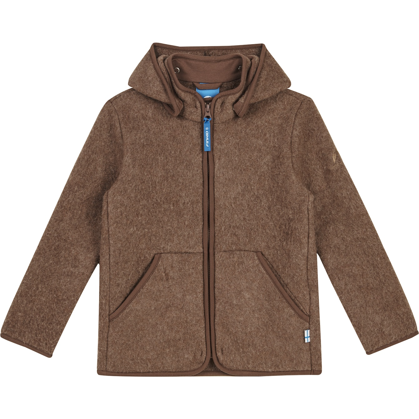 Finkid LUONTO WOOL Zip In Inner Jacket - Kids Wool Fleece Jacket - cocoa