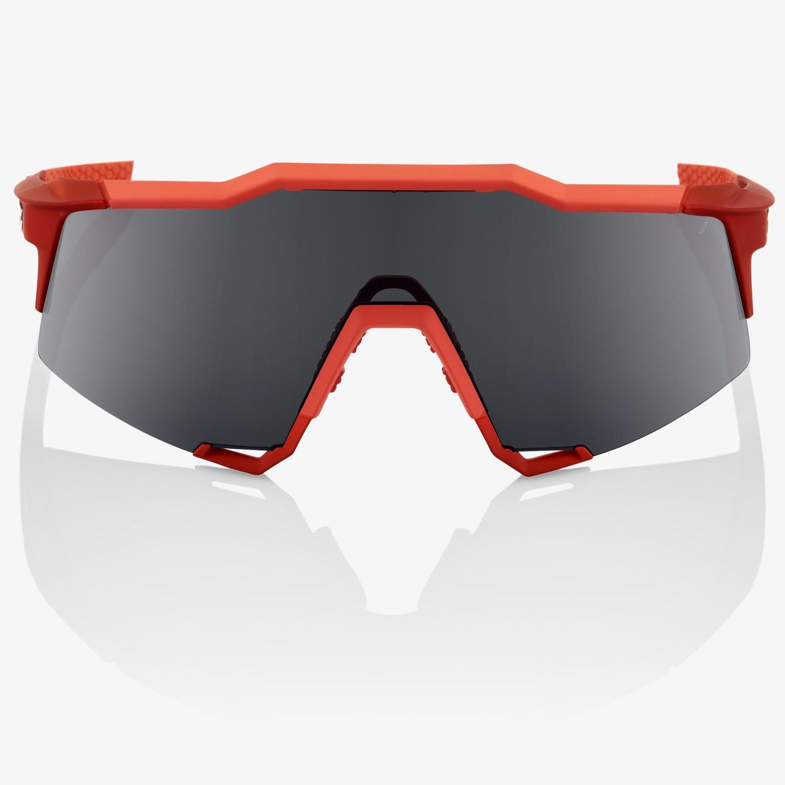 Imagen de 100% Speedcraft - Tall - Mirror Lense Gafas - Soft Tact Coral/Black Mirror + Clear