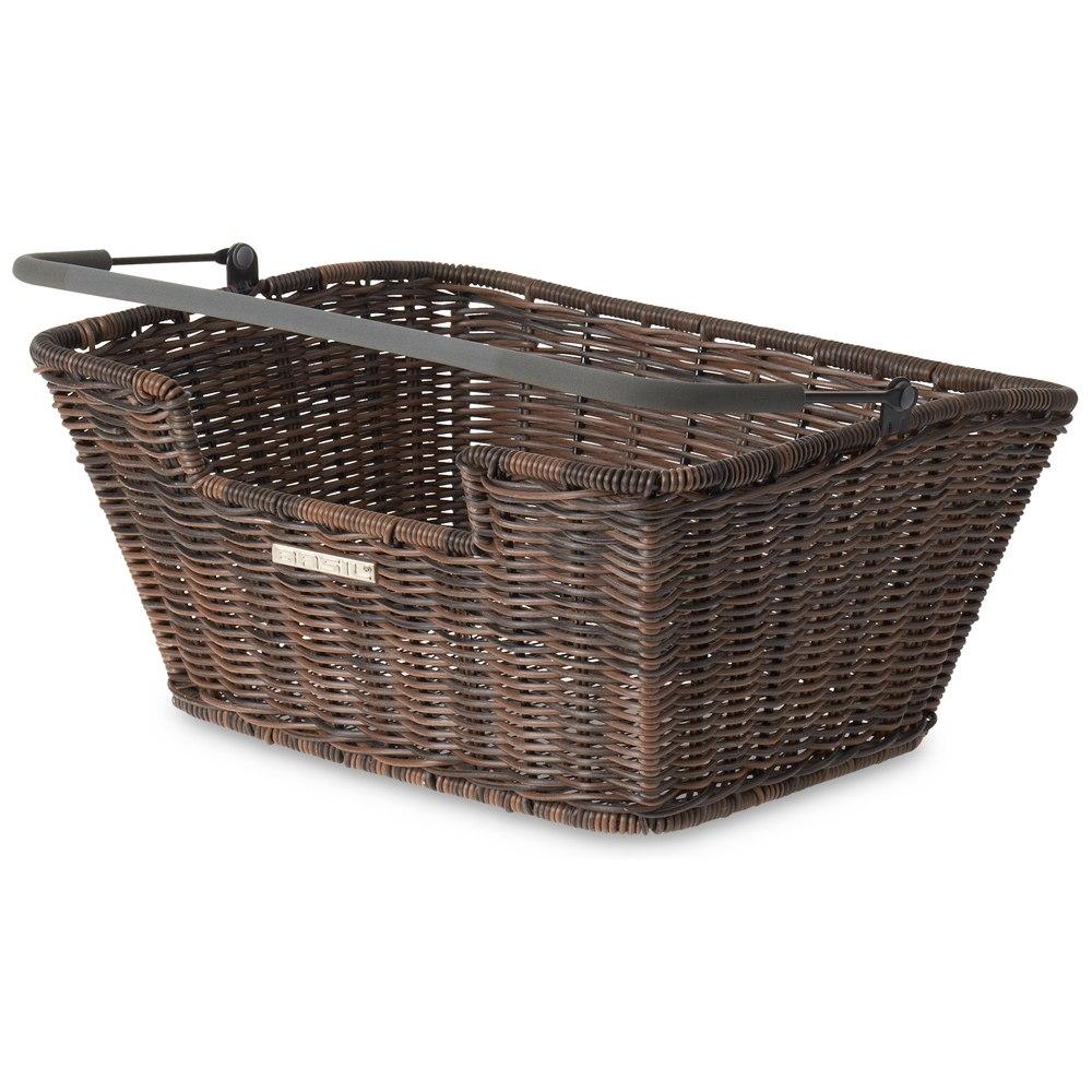 Basil Capri-Rattan Look Flex - Bike Basket - nature brown
