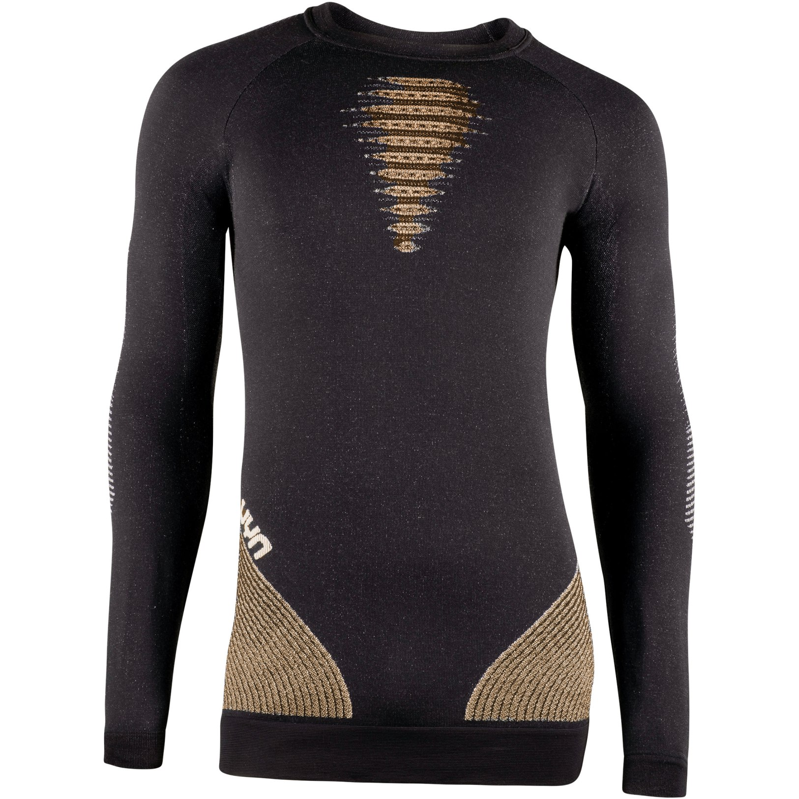 UYN Cashmere Shiny 2.0 Man Underwear Shirt Long Sleeves Round Neck - Celebrity Gold