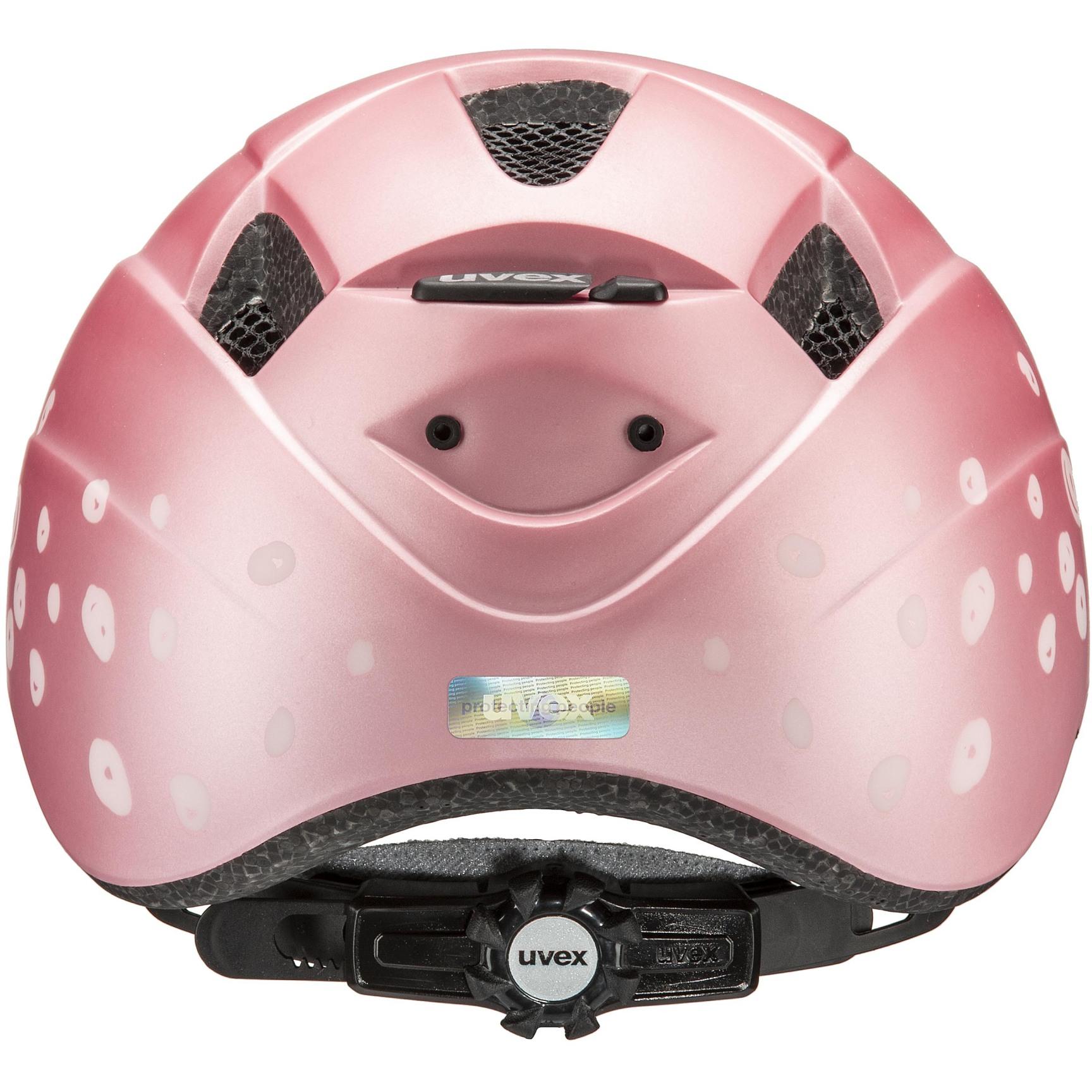 Image of Uvex kid 2 cc Kids Helmet - pink polka dots