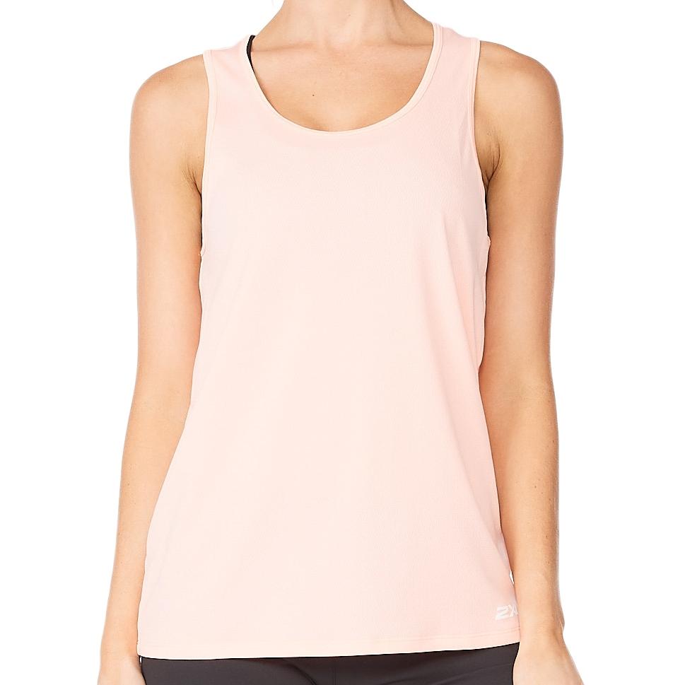 Imagen de 2XU Aero Camiseta de tirantes para mujer - pop coral/white reflective