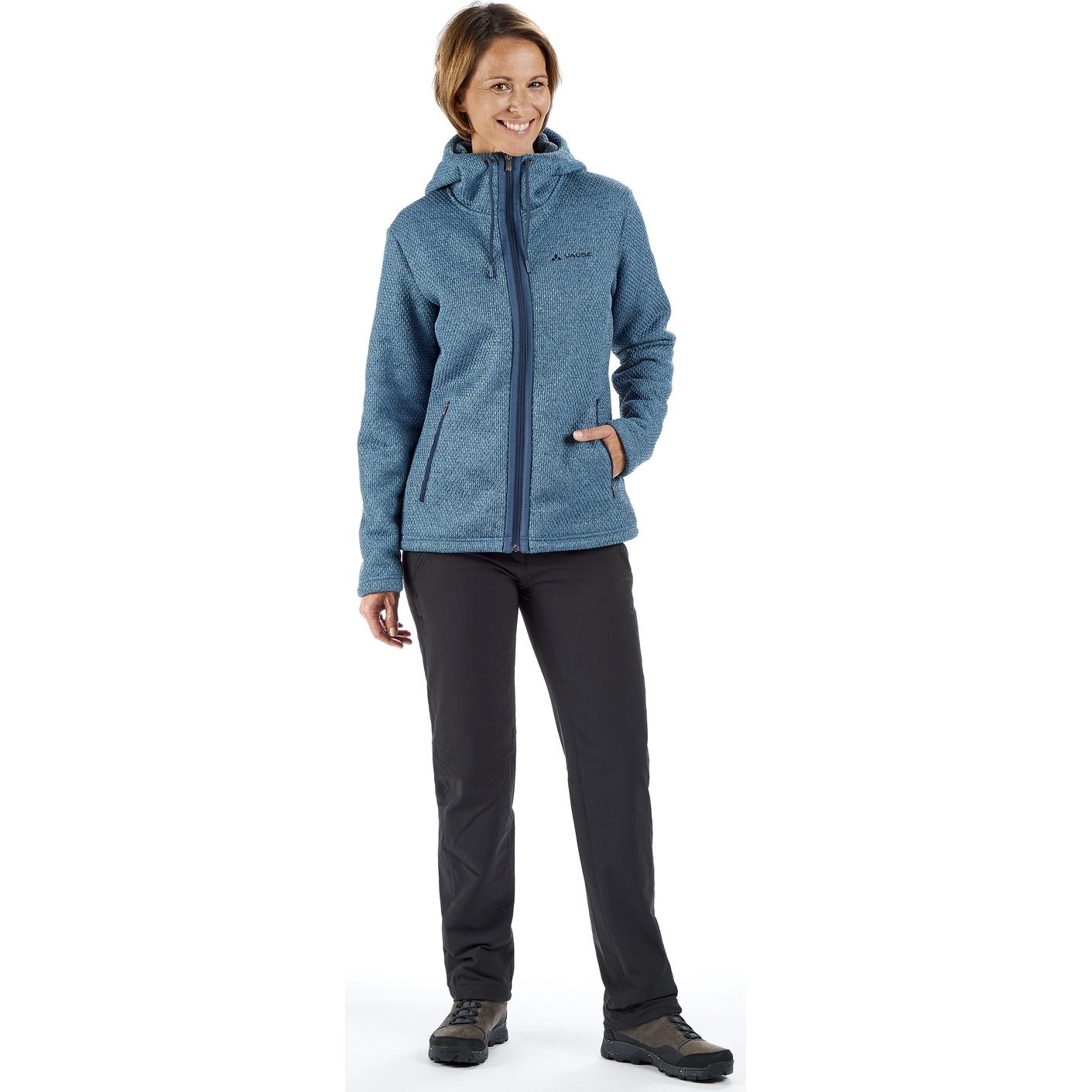 Image of Vaude Women's Skomer Hooded Jacket - blue grey