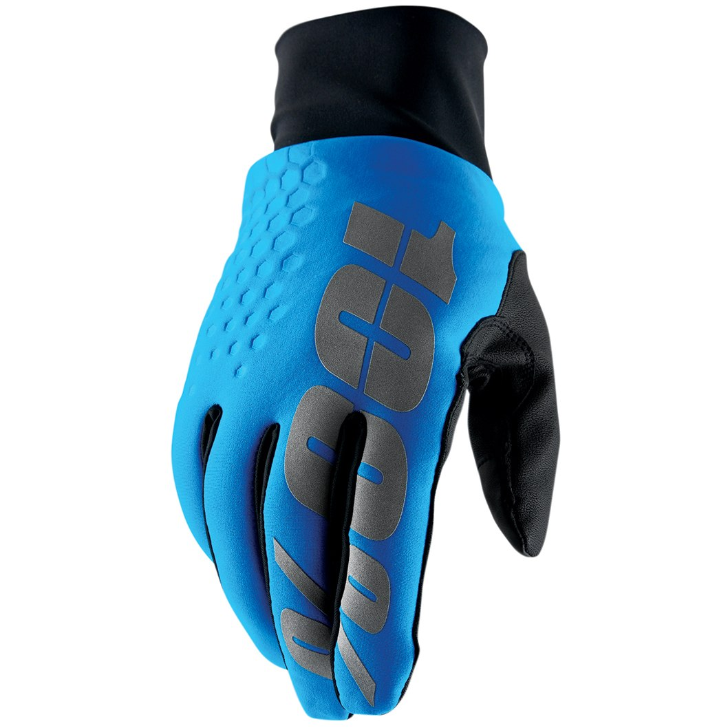 100% Hydromatic Brisker Glove - Cyan