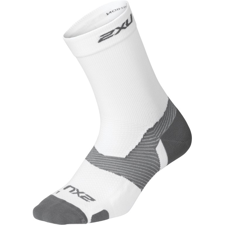 2XU VECTR Light Cushion Crew Sock - white/grey