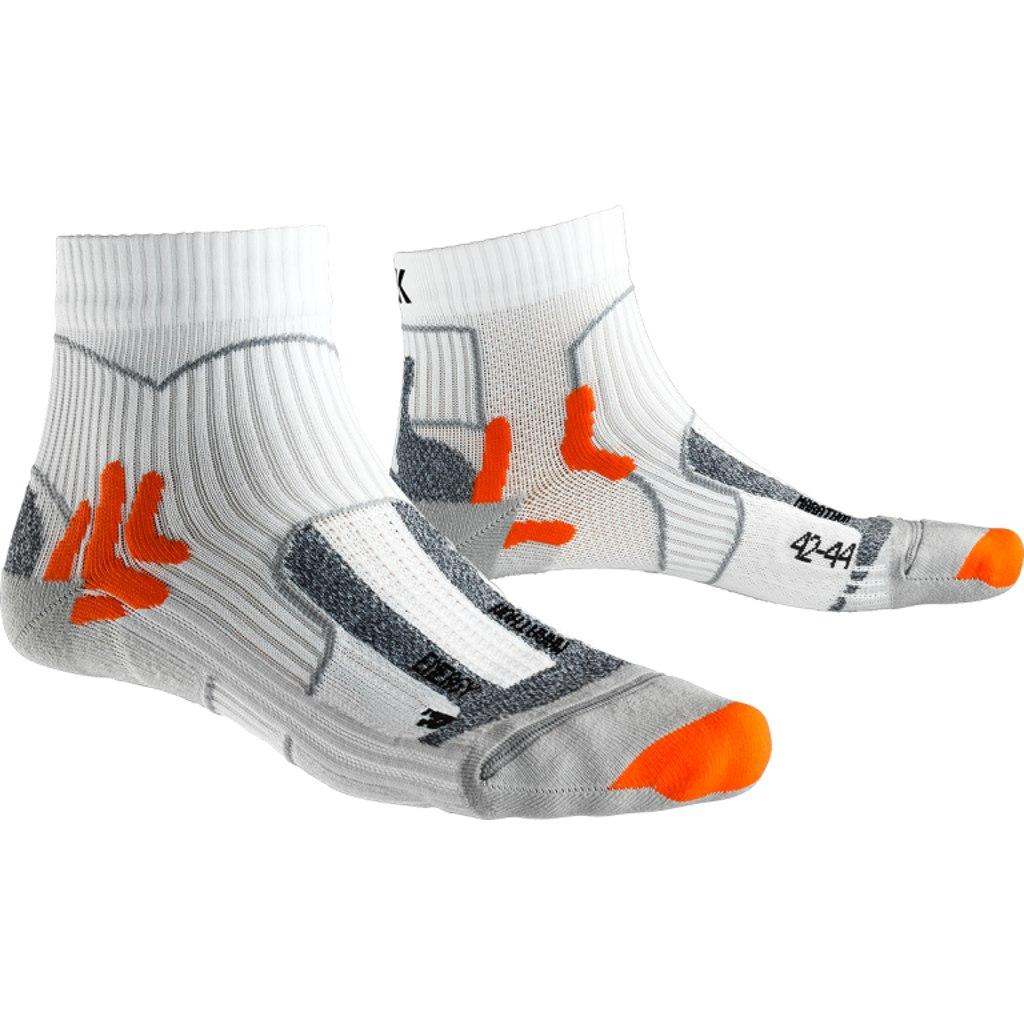 X-Socks Marathon Energy Laufsocken - arctic white/pearl grey